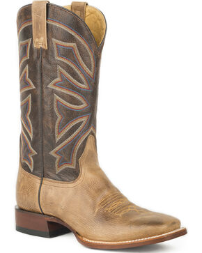 Stetson Men's Brown Gunsmoke Western Boots - Square Toe , Brown, hi-res