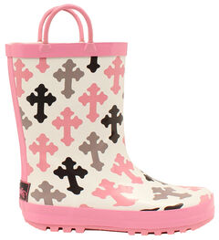 Blazin Roxx Christian Cross Rain Boots - Round Toe , , hi-res