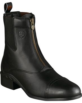 Ariat Heritage Zipper Boots - Round Toe, Black, hi-res