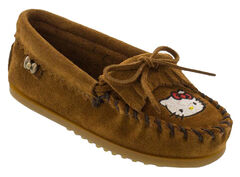 Minnetonka Girls' Hello Kitty Moccasins, , hi-res