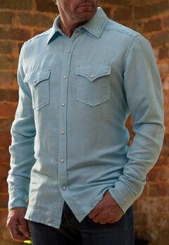 Ryan Michael Men's Blue Pool Western Shirt, , hi-res