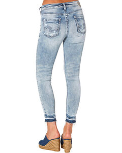 Silver Women's Indigo Avery Ankle Skinny Light Wash Jeans - Plus Size, , hi-res