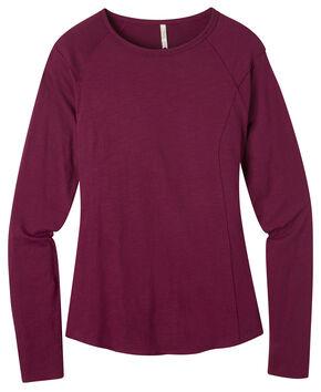 Mountain Khakis Women's Hollyhock Solitude Long Sleeve Shirt , Maroon, hi-res