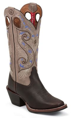 Tony Lama 3R Series Bridle Brown Shiloh Cowgirl Boots - Square Toe, , hi-res