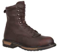Rocky Original Ride Waterproof Western Lacer Boots - Safety Toe, , hi-res