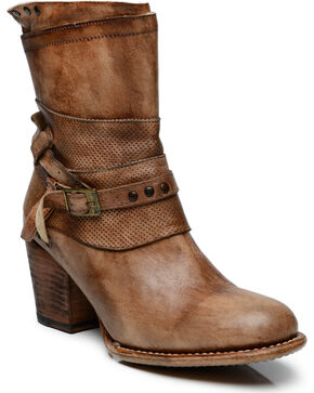 Bed Stu Women's Rowdy Short Boots, Teak, hi-res