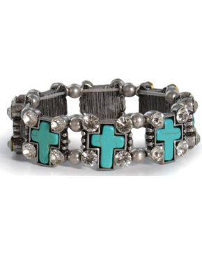 Shyanne Women's Turquoise Cross Bracelet, Turquoise, hi-res