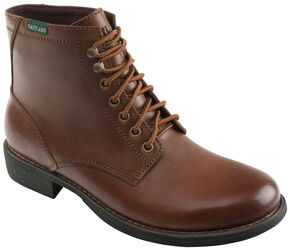 Eastland Men's Tan Brent Plain Toe Boots, Pecan, hi-res