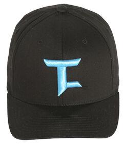 Tuf Cooper Performance Black Twill Logo Cap , , hi-res