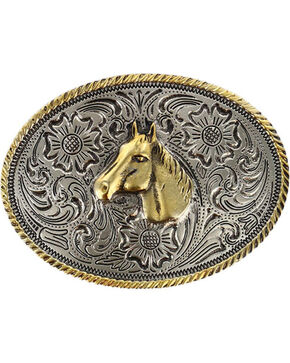 Cody James® Kid's Dual-Tone Horse Buckle, Multi, hi-res