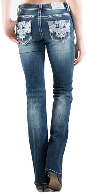 Grace in LA Indigo Wash Jeans - Plus Size, Indigo, hi-res