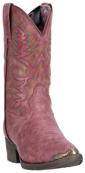 Laredo Girls' Pink Tobi Cowgirl Boots - Round Toe , Pink, hi-res