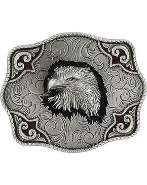 Nocona Men's Bald Eagle Belt Buckle, Silver, hi-res