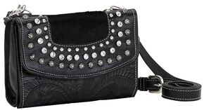 American West Texas Two Step Crossbody Bag, Black, hi-res