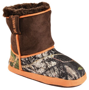 Double Barrel Boys' Camouflage Slipper Booties, Camouflage, hi-res