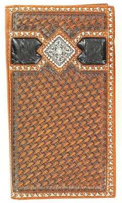 Ariat Two-Tone Basketweave Concho Rodeo Wallet, , hi-res