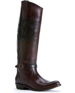 Frye Women's Rider Logo Boots - Round Toe, , hi-res