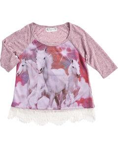 Shyanne Girls' Running Horse Long Sleeve Shirt, , hi-res
