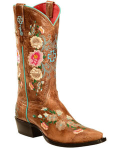 Macie Bean Rose Garden Cowgirl Boots - Snip Toe, , hi-res