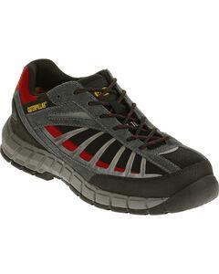 Caterpillar Men's Infrastructure Black Work Shoes - Steel Toe , , hi-res