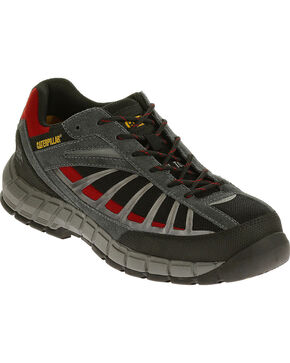 Caterpillar Men's Infrastructure Black Work Shoes - Steel Toe , Black, hi-res