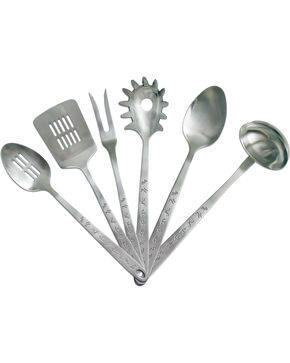 Moss Brothers 6-Piece Brands Stainless Steel Serving Set  , Silver, hi-res