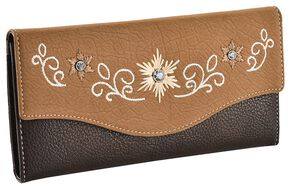 Blazin Roxx Floral Embroidered Wallet, Distressed, hi-res