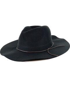 Peter Grimm Women's Black Janis Floppy Fedora Hat , Black, hi-res