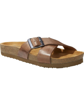 Eastland Women's Kelley Crisscross Slide Sandal , Natural, hi-res
