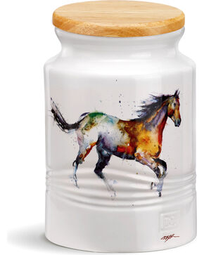 Demdaco Running Horse Medium Canister, Multi, hi-res