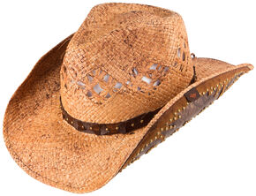 Peter Grimm Jarales Straw Cowboy Hat, Natural, hi-res