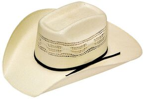Boys' Youth Twister Bangora Vented Straw Cowboy Hat, Cream, hi-res