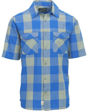 Woolrich Men's Zephyr Ridge Buffalo Check Shirt , Light/pastel Blue, hi-res