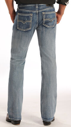 "Rock and Roll Cowboy Pistol Simple ""V"" Jeans - Straight Leg , , hi-res"