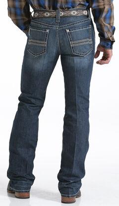 Cinch Men's Ian Dark Stonewash Slim Fit Jeans - Boot Cut  , , hi-res