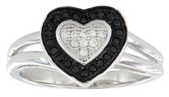Montana Silversmiths Women's Double Layer of Love Ring, , hi-res