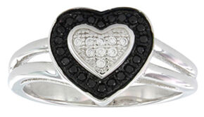 Montana Silversmiths Women's Double Layer of Love Ring, Silver, hi-res