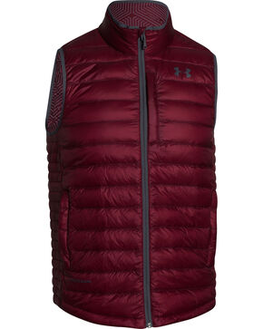 Under Armour Men's ColdGear Infrared Turing Insulated Vest, Burgundy, hi-res