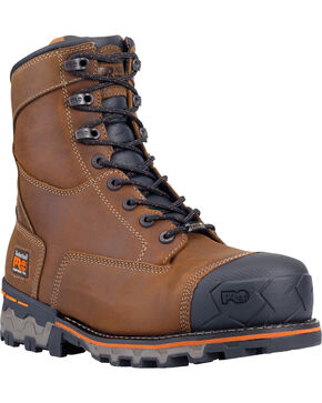 "Timberland Men's Brown PRO Boondock 8"" Work Boots - Composite Toe , Brown, hi-res"