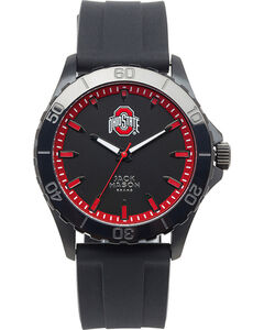 Jack Mason Men's Collegiate Collection Ohio State Silicone Watch , , hi-res