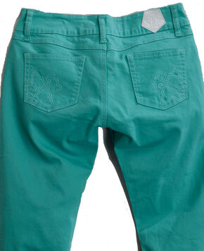 Tin Haul Women's Dolly Celebrity Colored Denim Bootcut Jeans, Turquoise, hi-res