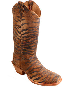 Twisted X Tiger Print Steppin' Out Cowgirl Boots - Square Toe, , hi-res