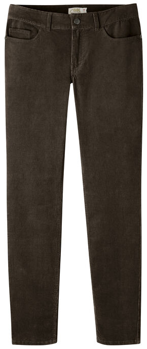 Mountain Khakis Women's Canyon Cord Slim Fit Skinny Pants, Dark Brown, hi-res