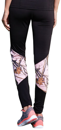 Wilderness Dreams Black and Pink Mossy Oak Break-Up Active Tights, , hi-res