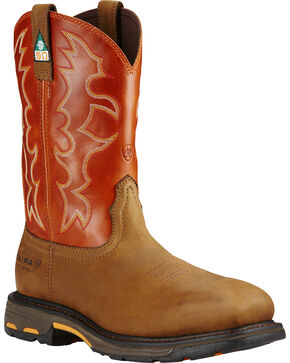 Ariat Men's WorkHog CSA Work Boots - Composite Toe, Earth, hi-res