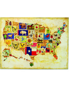 Demdaco State Icons Map Wall Art, , hi-res