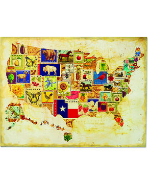 Demdaco State Icons Map Wall Art, Multi, hi-res
