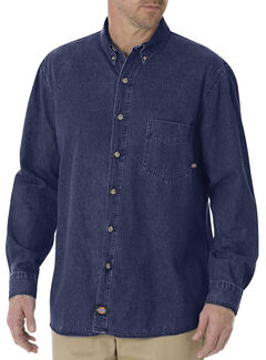 Dickies Denim Work Shirt - Big & Tall, , hi-res