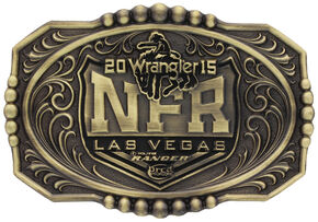 Montana Silversmiths 2015 WNFR Brass Cast Buckle, Silver, hi-res
