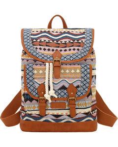 Bandana by American West Tan and Blue Santa Fe Drawstring Backpack, , hi-res